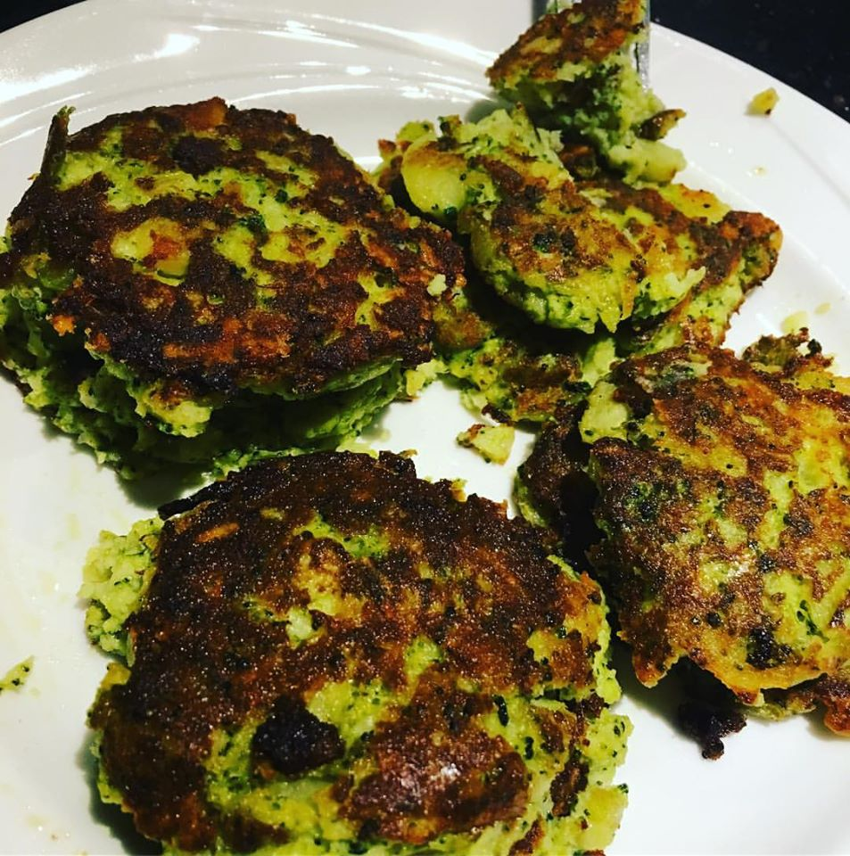 Broccoli Parmesan Potato Cakes